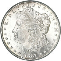 1887 S MORGAN SILVER DOLLAR BU US MINT COIN