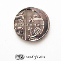 ENGLAND: 1 X 5 PENCE MIS STRIKE ERROR COIN WITH SMOOTH EDGES