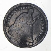 5C  1/2 DIME HALF  1859 S SEATED LIBERTY HALF DIME EARLY AME