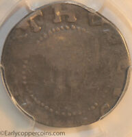 1652 OAK TREE SHILLING NOE 7 W480 R6 IN AT BOTTOM PCGS VG10