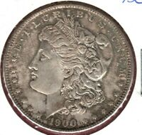 1900 MORGAN SILVER DOLLAR BU WITH BROWN TONE WITH RAINBOW COLORS  AU1215