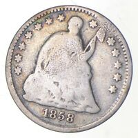 5C   1/2 DIME HALF   1858 SEATED LIBERTY HALF DIME EARLY AME