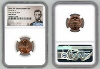 2019 W LINCOLN CENT 1C UNCIRCULATED NGC MS 70 RD FIRST DAY O