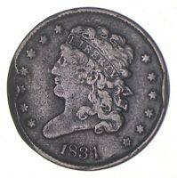1831 CLASSIC HEAD HALF CENT   CHARLES COIN COLLECTION  352