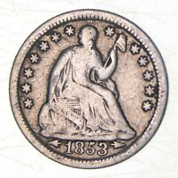 1853 SEATED LIBERTY HALF DIME   CHARLES COIN COLLECTION  548