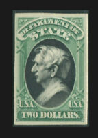 O68P4 $2 STATE DEPARTMENT PROOF ON CARD  003