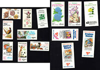 U.S.   14 DIFFERENT COMPLETE BOOKLETS  FACE VALUE 79