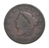 BETTER 1828 MATRON HEAD   US LARGE CENT PENNY COIN COLLECTIO