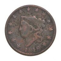 BETTER 1818 MATRON HEAD   US LARGE CENT PENNY COIN COLLECTIO