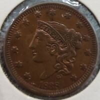 1838 ONE CENT CORONET HEAD LARGE CENT 1C COPPER COIN LIBERTY