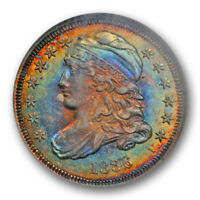 1836 10C CAPPED BUST DIME NGC MINT STATE 63 UNCIRCULATED MONSTER TONED BEAUTIFUL