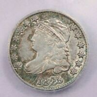 1825-P 1825 CAPPED BUST DIME ICG AU50 BEAUTIFUL FLASHY WITH SOME GREEN TONING