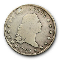 1795 $1 FLOWING HAIR DOLLAR GOOD TO  GOOD DETAILS REPAIRED EARLY US TYPE