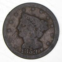 1853 BRAIDED HAIR HALF CENT   CHARLES COIN COLLECTION  309