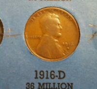 1916 D LINCOLN CENT,GREAT FOR YOUR COIN BOOK