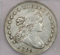 1796-P 1796 DRAPED BUST SILVER DOLLAR S$1 PCGS EF40 DETAILS