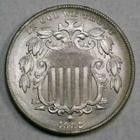 1882 SHIELD NICKEL, UNCIRCULATED,  BRIGHT BU COIN FOR TYPE  0226-02