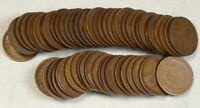 CIRCULATED ROLL, 1916-D LINCOLN CENTS,  GOOD, OLD DEALER STOCK   0401-13