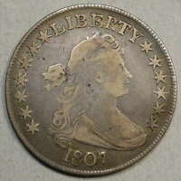 1807 DRAPED BUST HALF DOLLAR,  GOOD TO FINE,  TYPE COIN    0214-20