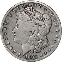 1884 MORGAN SILVER DOLLAR  GOOD VG