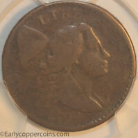 1794 S48 LIBERTY CAP LARGE CENT STARRED REVERSE PCGS PR/FR SMOOTH GLOSSY BROWN