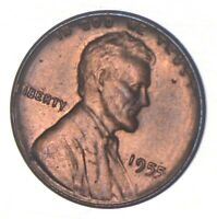 DOUBLE DIE   1955/55 LINCOLN WHEAT CENT   POOR MAN'S DOUBLE