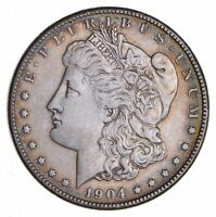1904-S MORGAN SILVER DOLLAR - CLEANED - CIRCULATED 1308