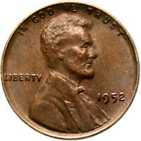 1952 LINCOLN WHEAT CENT ABOUT UNCIRCULATED PENNY AU
