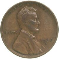 1938 D LINCOLN WHEAT CENT  FINE PENNY VF