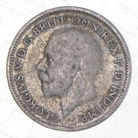 SILVER ROUGHLY SIZE OF QUARTER 1934 GREAT BRITAIN 6 PENCE WO