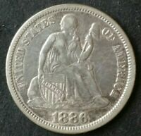 1886 10C SEATED LIBERTY SILVER DIME