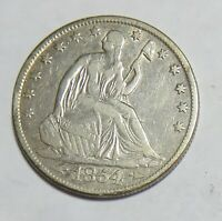 1854 O SEATED HALF DOLLAR