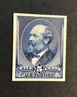 1887 88 SC216 P4  5C US TRIAL COLOR DIE AND PLATE PROOFS