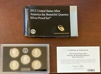 2012 UNITED STATES MINT AMERICAN THE BEAUTIFUL QUARTERS SILV