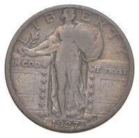 BETTER 1927 S   US STANDING LIBERTY 90  SILVER QUARTER COIN