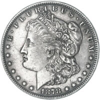 1878 MORGAN SILVER DOLLAR 7 OVER 8 TAIL FEATHERS  FINE EXTRA FINE  SEE PICS E834