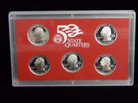 2008 S STATE QUARTERS SILVER PROOF SET WITH COA  OGP