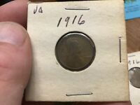 1916-P, 1916-D , 1916-S LINCOLN CENTS , LINCOLN PENNY , US ONE CENT, 3 COINS