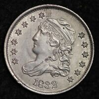 1832 CAPPED BUST HALF DIME UNCIRCULATED SHIPS FREE E183 ACNM