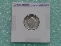 GREAT BRITAIN   1926 SIX PENCE   PREDECIMAL COIN.