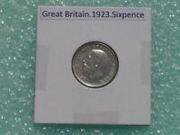 GREAT BRITAIN   1923 SIX PENCE   PREDECIMAL COIN.