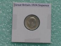 GREAT BRITAIN   1924 SIX PENCE   PREDECIMAL COIN.