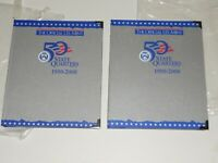 2 OFFICIAL US MINT 50 STATE QUARTERS COLLECTORS FOLDERS 1999