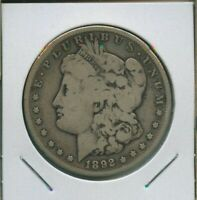 1892 S MORGAN DOLLAR $1 US MINT  KEY DATE SILVER COIN 1892-S