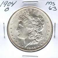 1904-O MORGAN SILVER DOLLAR GRADES CHOICE UNCIRCULATED WHITE C4516