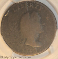 1793 S14 R5  LIBERTY CAP LARGE CENT PCGS G4 BISECTING OBV DIE CRACK 1C NO RESERV