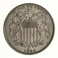 1883 SHIELD NICKEL - WITHOUT RAYS - CHOICE - CONDITION: FILED RIMINT STATE 6950