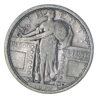 1917-S STANDING LIBERTY SILVER QUARTER - TYPE 1 - CIRCULATED 0217