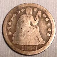 1850 US SEATED LIBERTY DIME 10 CENTS