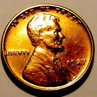 1927-S LINCOLN CENT  PENNY   BU